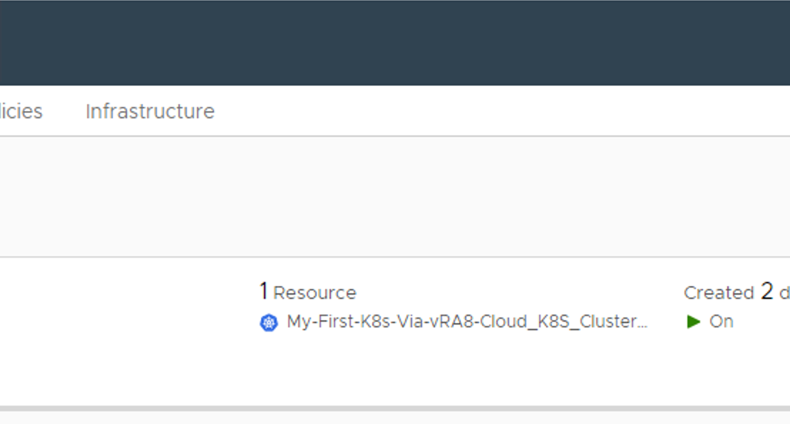 vRA 8 – Deploy Kubernetes Clusters & Access Them