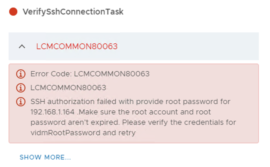 vRSLCM – VIDM Upgrade / Inventory Sync fails with error 'LCMCOMMON80063'